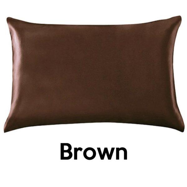 brown silk pillowcases
