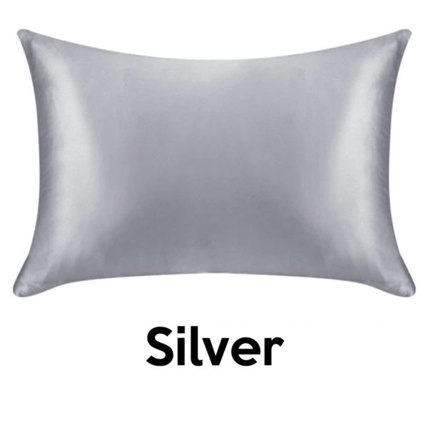 silver silk pillowcases