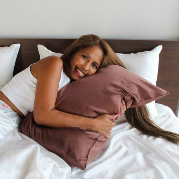 brown mulberry silk pillowcases