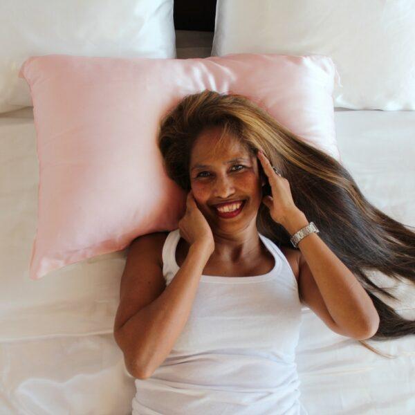 pink mulberry silk pillowcase online